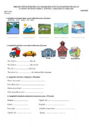 English Worksheets: 5.SINIF YAZILI