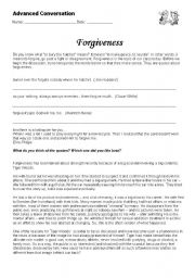Printables Forgiveness Worksheets forgiveness worksheet pichaglobal english teaching worksheets conversation