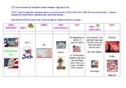 English Worksheet: special days : step 6 - American Independence Day, July 4th.