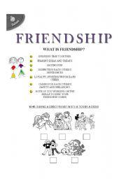 English worksheet: friendship