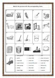 English Worksheets: CHORES 02/02