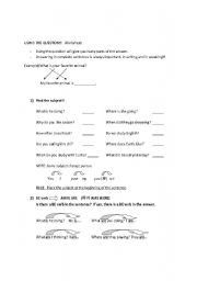 English Worksheets: Using the Question to Create the answer