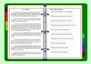 English Worksheet: community helpers. A story about a car accident and the role of community helpers.