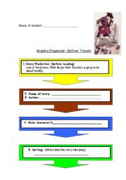 English Worksheet: Gulliver Travels - graphic organizer
