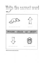 English Worksheets: Hickory dickory dock - write