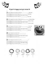 English Worksheets: Song for Kids