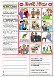 English Worksheets: Mouth idioms - list + exercises ***fully editable ((3 pages))