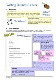 English Worksheet: Writing Business/Formal Letters