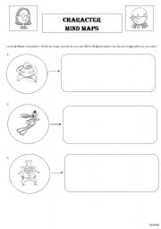 English Worksheets: Character Mind Maps