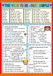 English Worksheets: TO BE - PAST SIMPLE