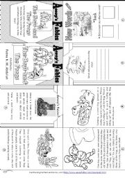 English Worksheet: Aesop´s Fables: The Boys and The Frogs[ Mini-book ]