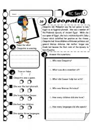 English Worksheets: RC Series Level 1_37 Cleopatra (Fully Editable + Answer Key)