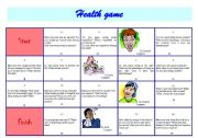 English Worksheets: Health game - oral activity