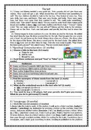 English Worksheet: Full Term Test