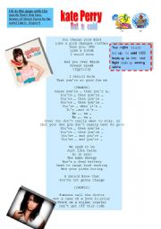 English Worksheet: Hot n cold. Kate Perry. Song