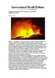 English Worksheet: Volcano crisis article + 6 ACTIVITIES