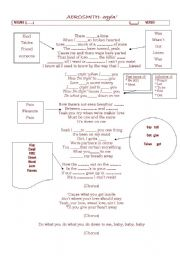 English Worksheet: Crying� (Aerosmith)
