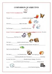 comparison of adjectives exercise