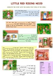It's just a graphic of Adorable Little Red Riding Hood Story Printable