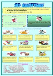English Worksheets: SO THAT -SUCH THAT