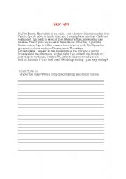 English Worksheets: Busy Life