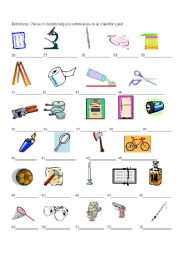 English Worksheets: Survival: What items do I need to survive alone on ...