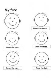 English Worksheets: �My face