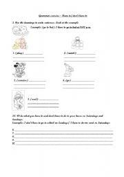 English worksheet: have to