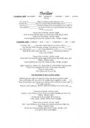 English worksheet: Thriller