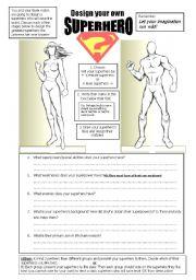 worksheet: Design a superhero