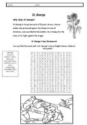 English Worksheets: st george