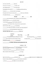 English Worksheets: conjunctions contrast