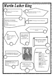 photo relating to Martin Luther King Worksheets Free Printable titled MARTIN LUTHER KING - ESL worksheet as a result of marisaba
