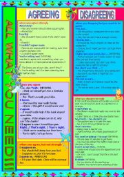 English Worksheet: AGREEING  - DISAGREEING