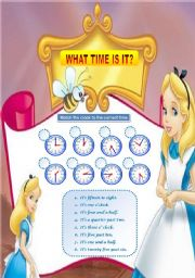 Telling the time with Alice in Wonderland