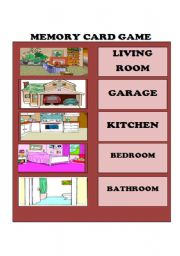 English Worksheets: Memory card game/1st. part