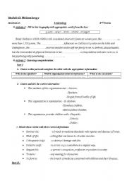 English Worksheet: worksheet addressed to 3rd form learners while dealing with module 2 section 2