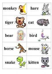 English Worksheets: Who likes what (part1-animals)