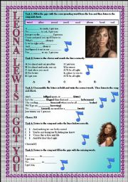 English Worksheets: Leona Lewis I Got You LISTENING song-based activity (FULLY EDITABLE AND KEY INCLUDED!!!)