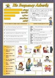 English Worksheets: THE FREQUENCY ADVERBS