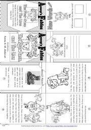 English Worksheet: Aesop´s Fables: The Four Oxen and The Lion [ Mini-book ]