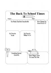 Home gt friends worksheets gt the back to school times