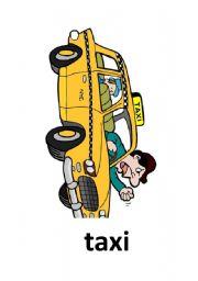 English Worksheets: transportation flashcard