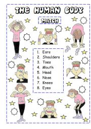 English Worksheet: Match the vocabulary
