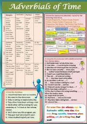 English Worksheets: Adverbials of time