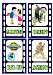English Worksheets: TV Programmes Flashcards (1/3)