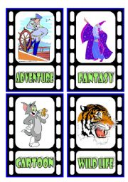 English Worksheet: TV Programmes Flashcards (2/3)