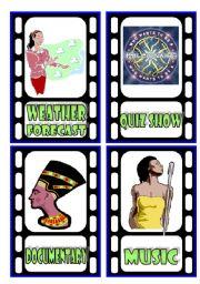 English Worksheets: TV Programmes Flashcards (3/3)