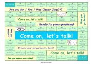 English Worksheet: TALKING GAME for beginner and elementary level • can be used for lessons with adults, too • FULLY EDITABLE