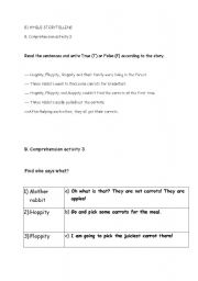 English Worksheets: The Three Bunnies and The Carrot 3